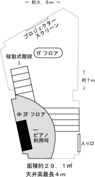 駒込レンタルスタジオ「La Grotte」  1階スタジオ(楽器練習プラン)